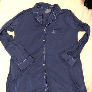 Victoria's Secret Long Button-Down Sleepshirt